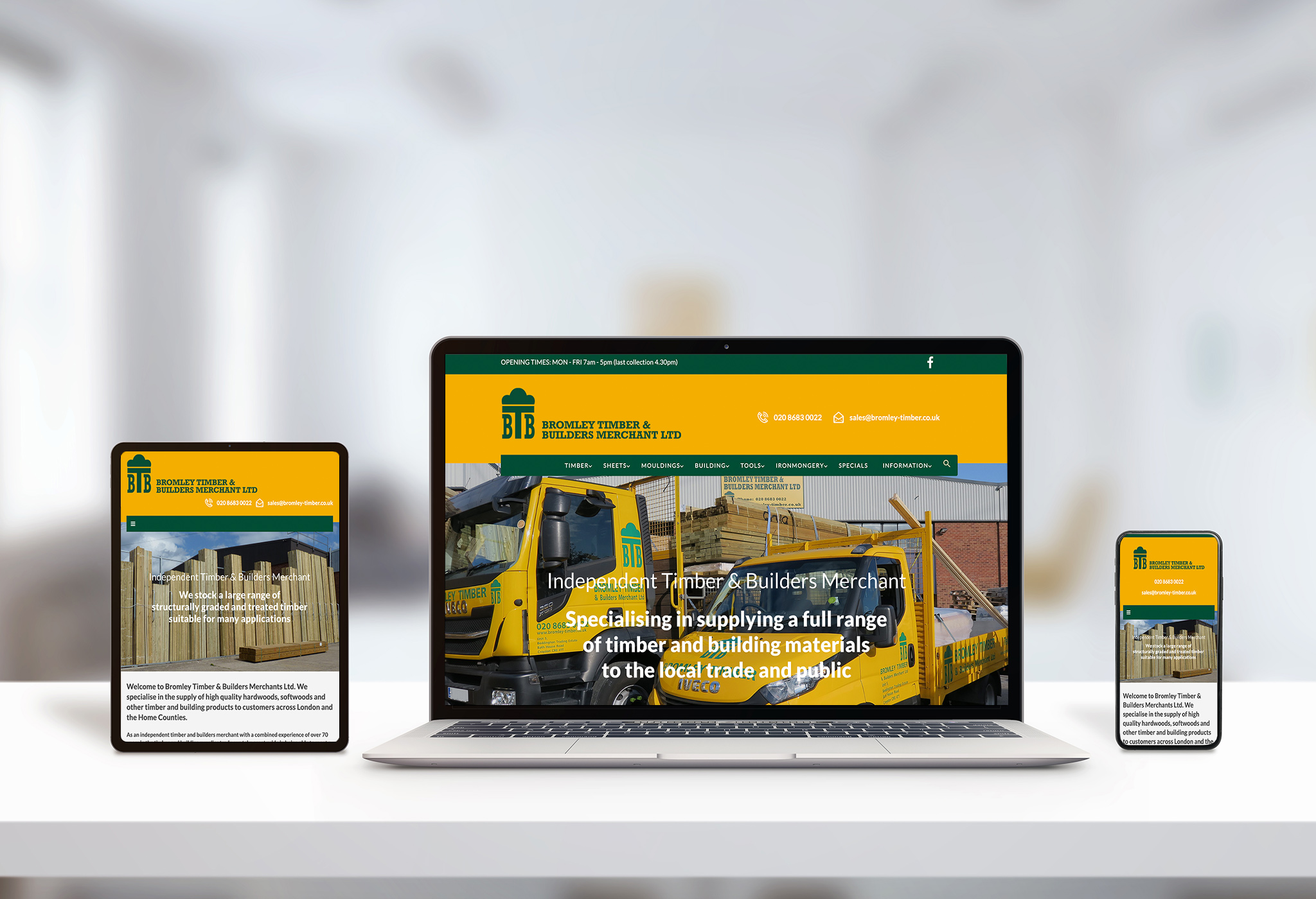 Bromley Timber website